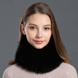 Women's Strip Fox Fur Headband Neckwarmer